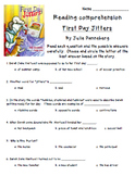First Day Jitters- Vocabulary & Comprehension questions wi