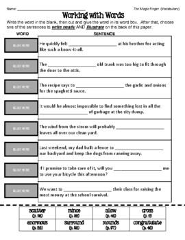 First Day Jitters - Vocabulary Matching