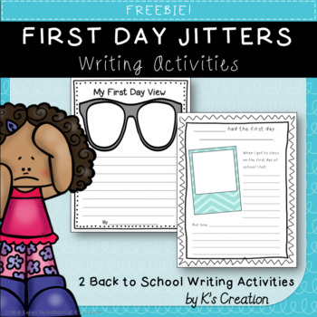 First Day Jitters Writing Activity