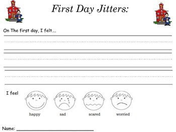 First Day Jitters activities