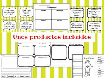 First Day Jitters bundle English and Spanish
