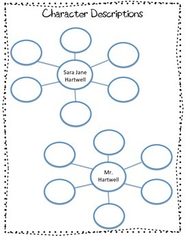 First Day Jitters graphic organizer pack