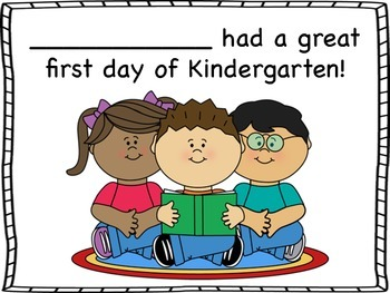First Day Kindergarten Certificates