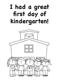 First Day Kindergarten Coloring Pages