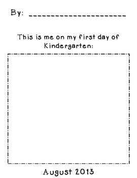 First Day Kindergarten Portrait