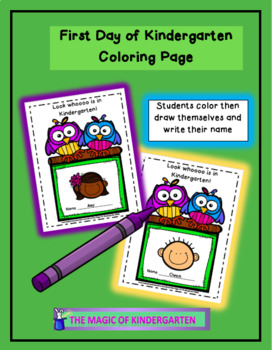 First Day/Last Day of Kindergarten Coloring Page