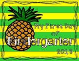 First Day /Last Day of Kindergarten Sign Pineapples