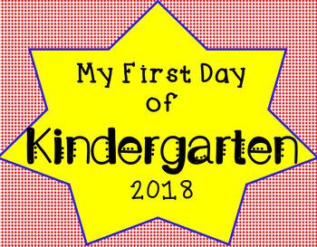First Day /Last Day of Kindergarten Sign Superhero