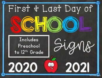 First Day & Last Day of School Signs Bundle