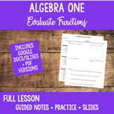 First Day Lesson Algebra Calculator Skills Evaluate a Function Digital Learning