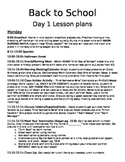 First Day Lesson Plans