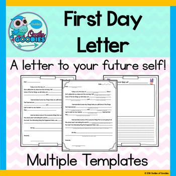 First Day Letter to Future Self by Oodles of Goodies | TpT