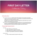 First Day Letter to Students