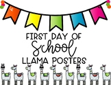 First Day Llama Signs