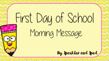 First Day Morning Message