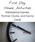 First Day Name Games: Partner Clock, Compliments, and more