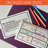 First Day: Name Tent One-Pagers