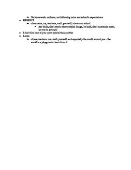 First Day/New Teacher Checklist