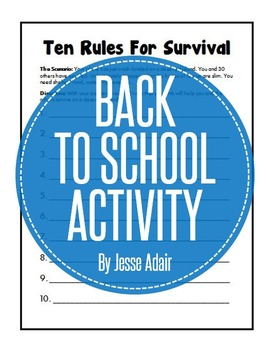 First Day Of Class Activity: Survival Worksheet