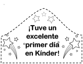 First Day Of Kinder Hat (Spanish)