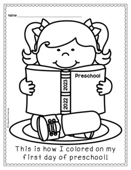 First And Last Day Of Schoo By A Spoonful Of Learning Day Of Kindergarten Coloring Page