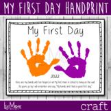 First Day Of Preschool / Pre-K / Kindergarten Handprint Printable Craft