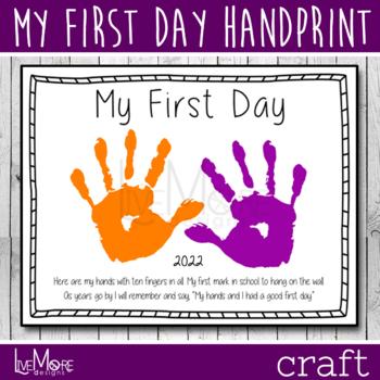 picture regarding Printable Handprints named Kindergarten Handprint Worksheets Instruction Components TpT