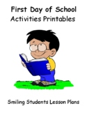 First Day Of School Activities Printables