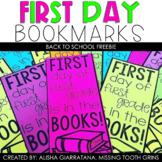 First Day Of School Bookmarks