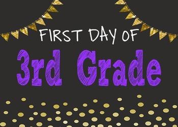First Day Of School Chalkboard Posters {Pre-K - 6}