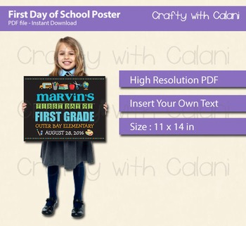 First Day Of School Children's Poster Photo Props