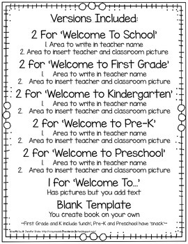 First Day Of School EDITABLE Mini Books