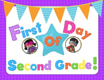 First Day Of School Neon Superhero Signs