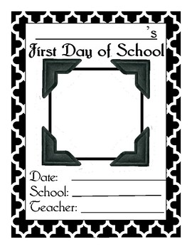 First Day Of School Picture Template