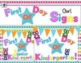 First Day Of School Owl Signs
