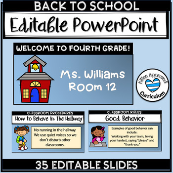 First Day Of School PowerPoint Open House PowerPoint EDITABLE