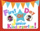 First Day Of School Red Background Superhero Signs