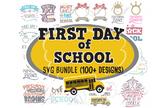 First Day Of School SVG Bundle Sign Monogram in svg dxf jp