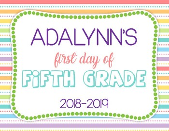 {Editable) First Day Of School Sign Freebie