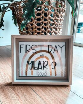 First Day Of School Sign | 2020 | Neutral Rainbow