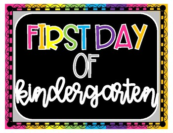First Day Of School Signs (black)