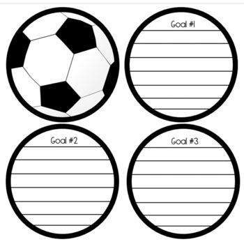 First Day Of School Soccer Ball Goal Setting Activity