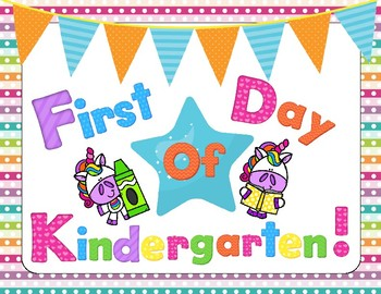First Day Of School Unicorn Signs