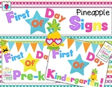 First Day Of School Pineapple Signs