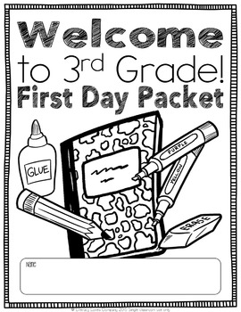 First Day Packet for Back to School {EDITABLE}
