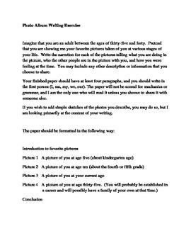 First Day Photo Album Writing Exercise-Ice Breaker for Teacher