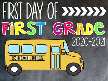 First Day Photo Printables