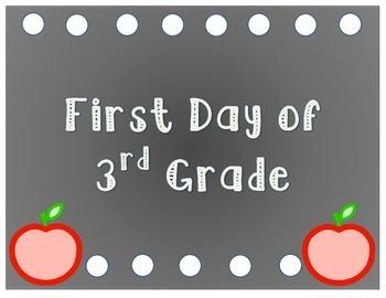 First Day Photos Printable