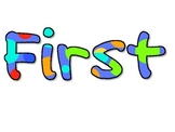 First Day Picture Frame Words