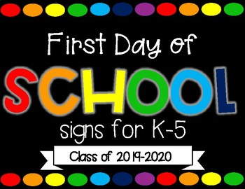 First Day Picture Sign
